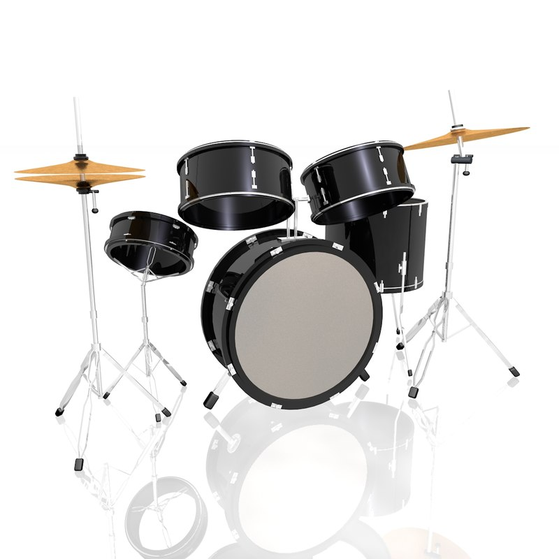 drum set 3d c4d