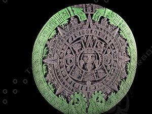 sun calendar aztecas 3d model