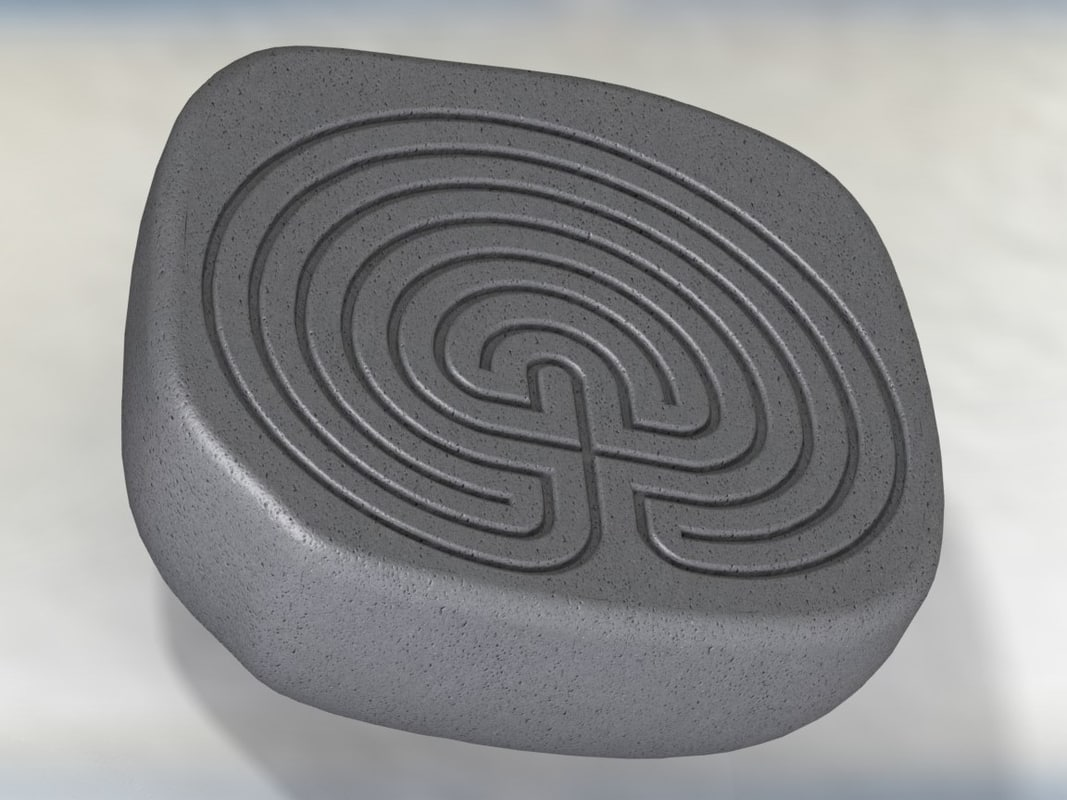 3d model classic celtic maze