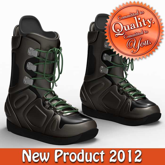 snow boarding boot 3d model