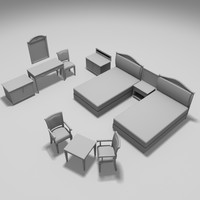guesthouse hostel bed 3d model