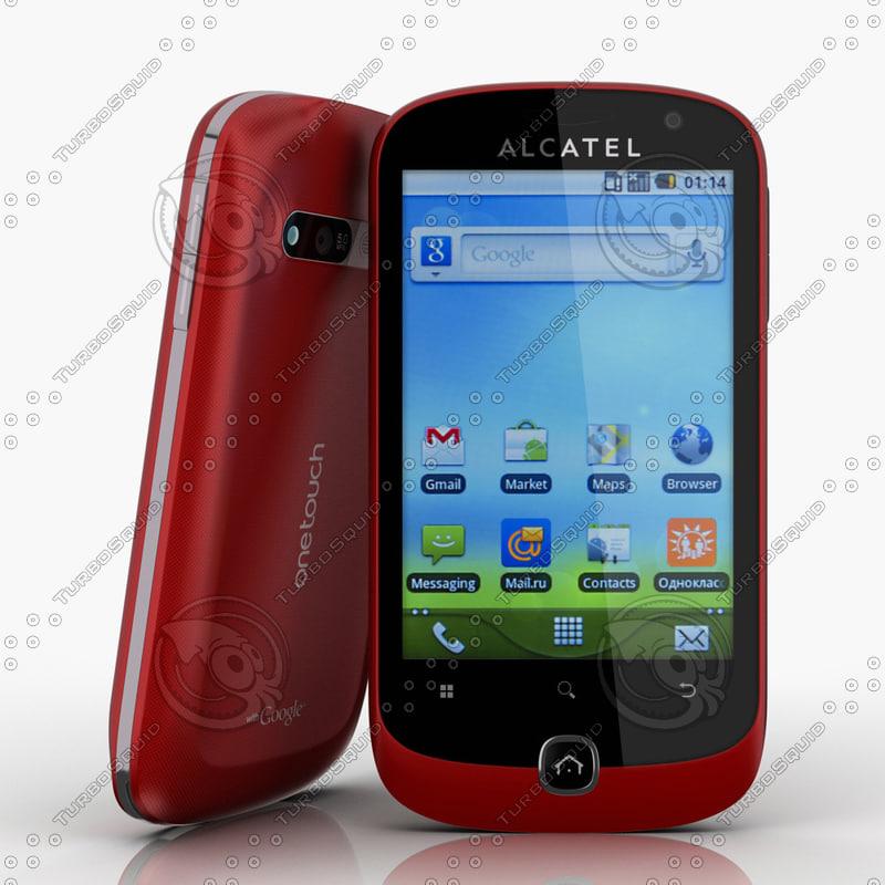 3d alcatel ot 990 cell phone