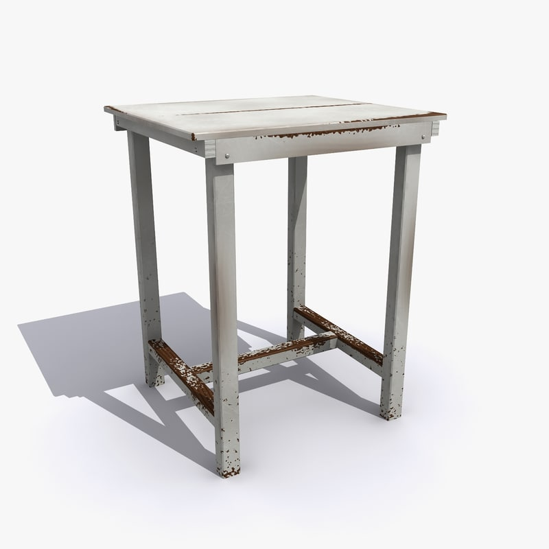 3d obj old table