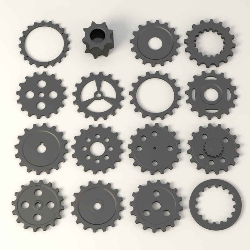 gear wheels c4d