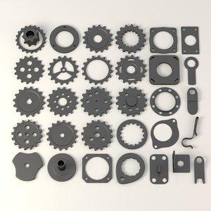 industrial wheel c4d