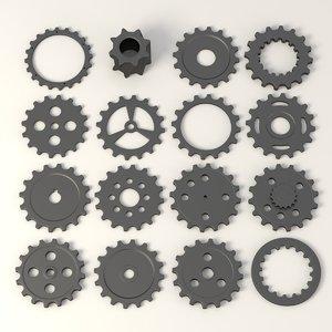 gear wheels c4d