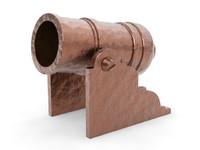cannon artillery 3d max