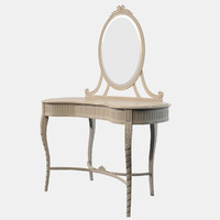 3d carved dressing table