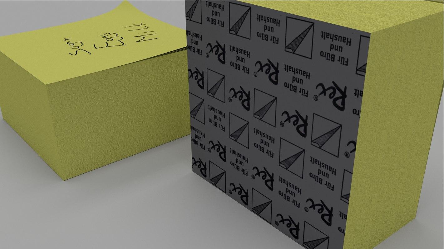 note sticky 3d 3ds