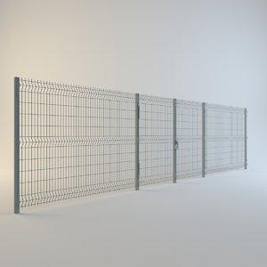fence metal 3d max