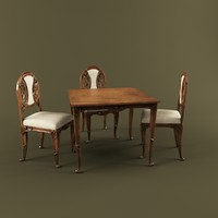 dining table medea 3d max