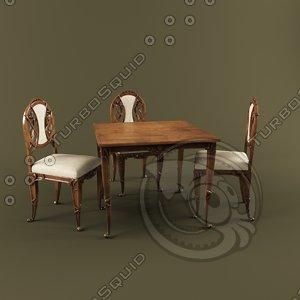 dining table medea 3d max