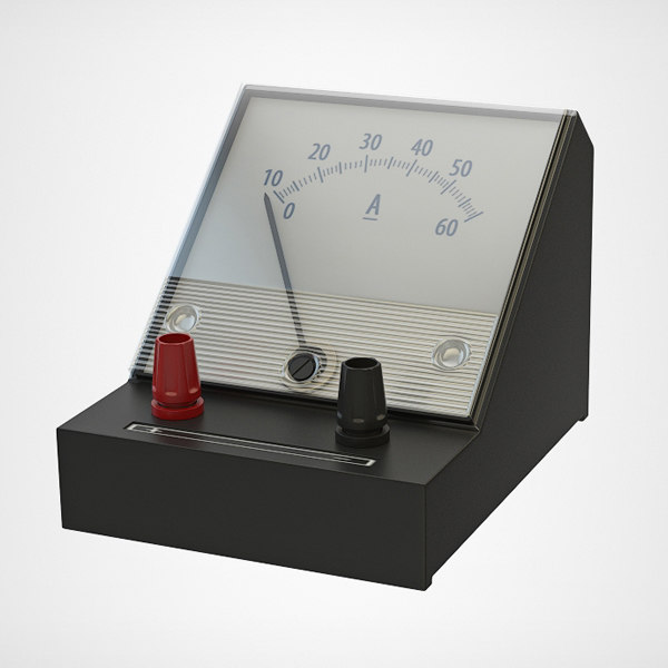 3d model ammeter meter