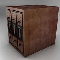 3d model archivador fotos shelf