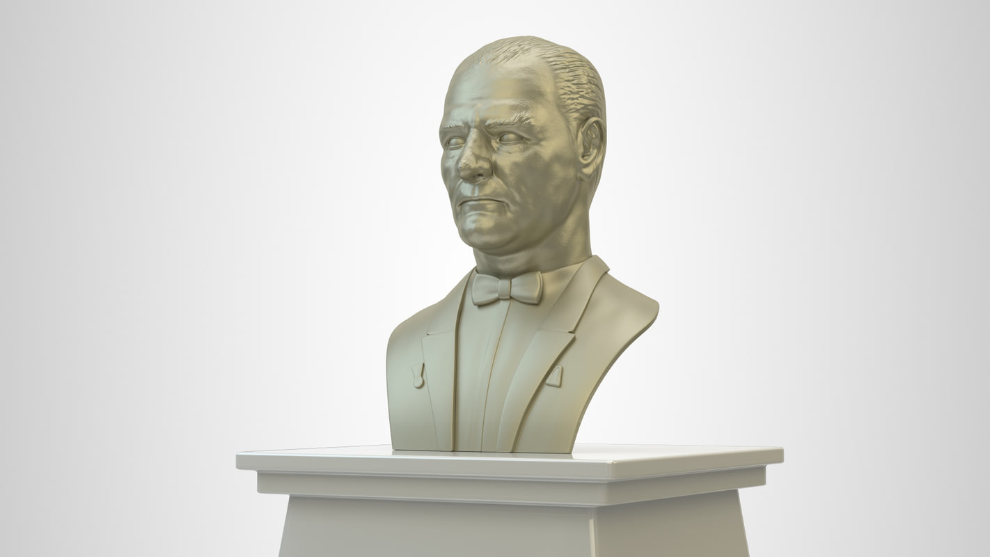 3d model mustafa ataturk sculpture