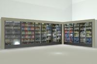Beverage Cooler Display