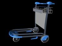 airport cart 3d c4d