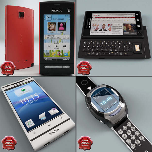 3d model cellphones 28 mobile phone