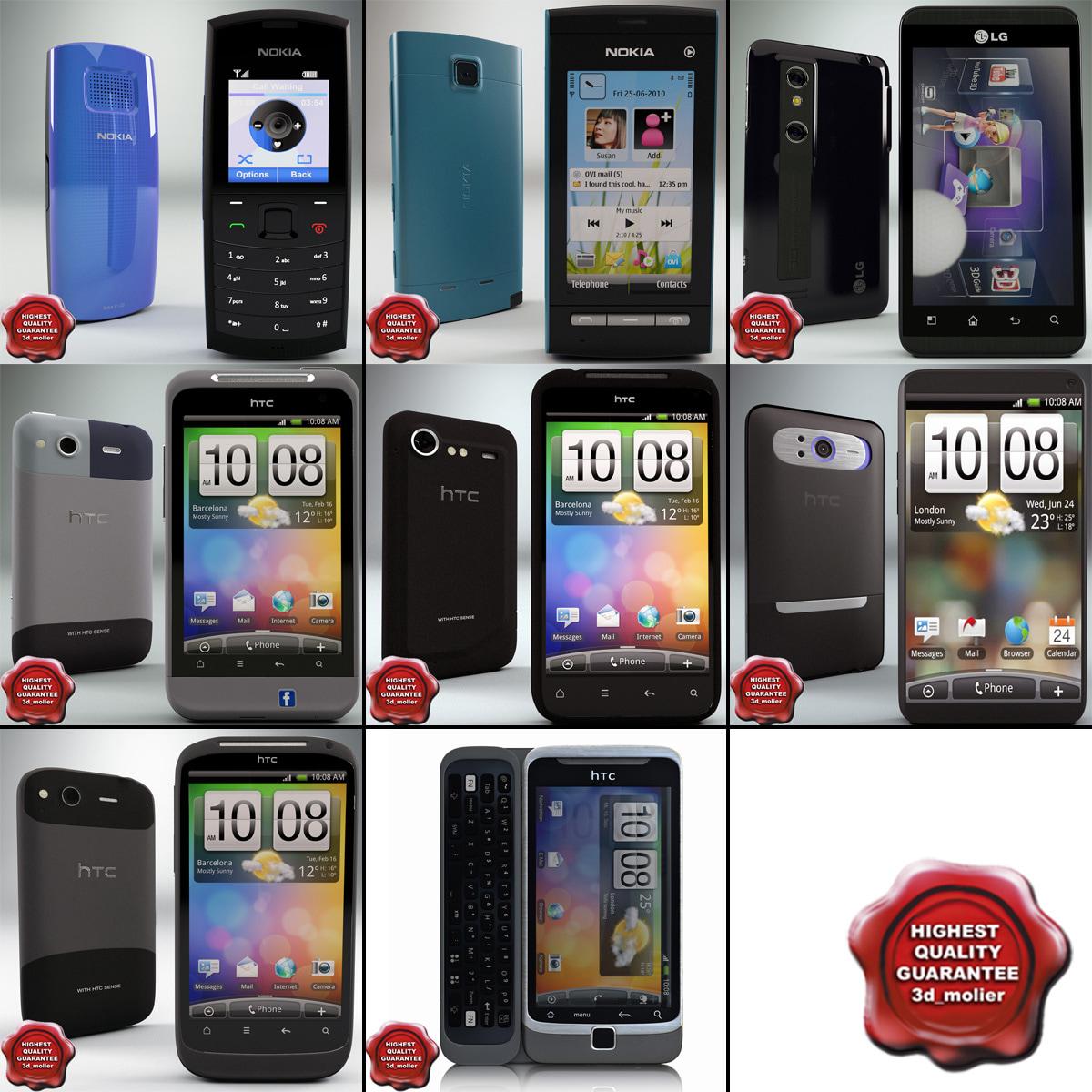 cellphones 53 3d model