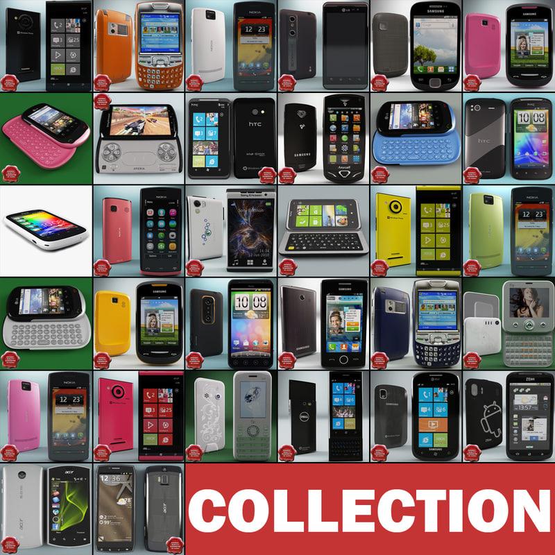 3d cellphones 72 phone model