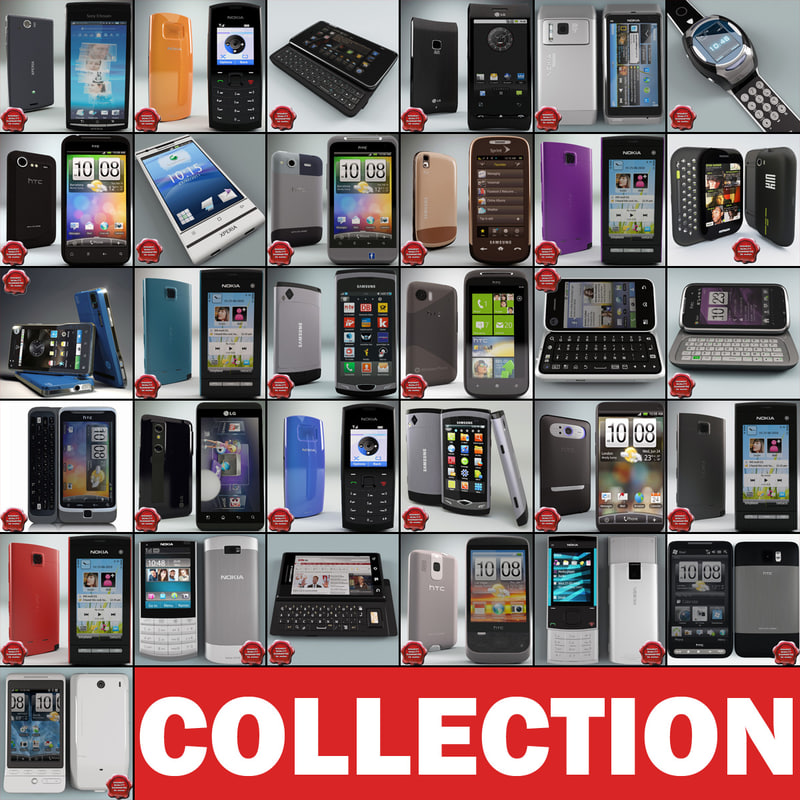 cellphones 74 mobile phone 3d model