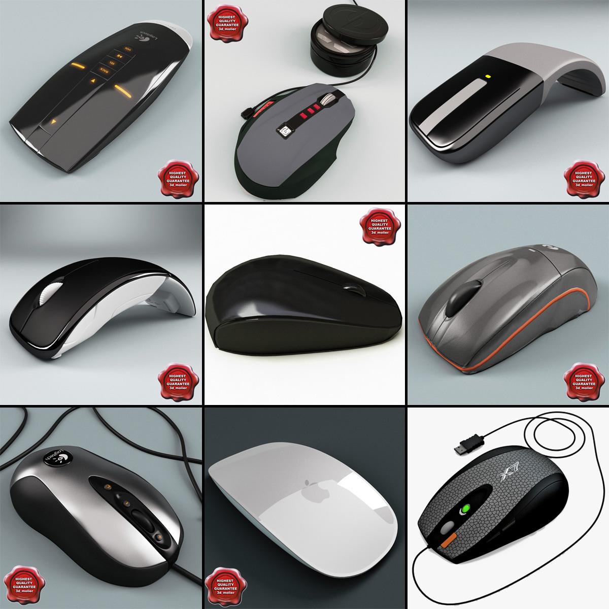 computer mouses v4 3d model