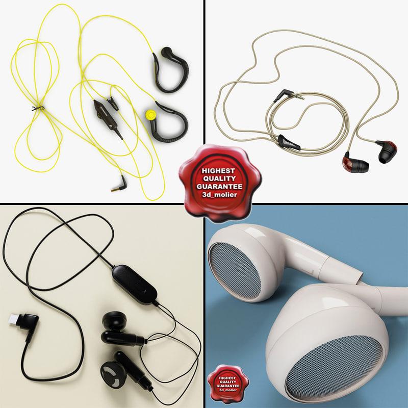 3d model earphones v2