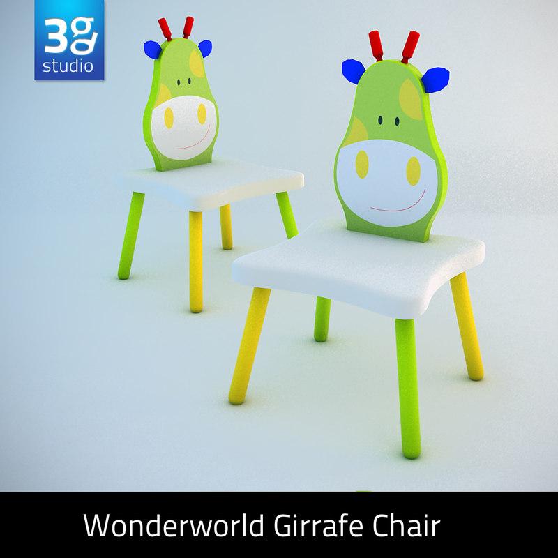 3d giraffe chair model