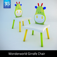3d giraffe chair model