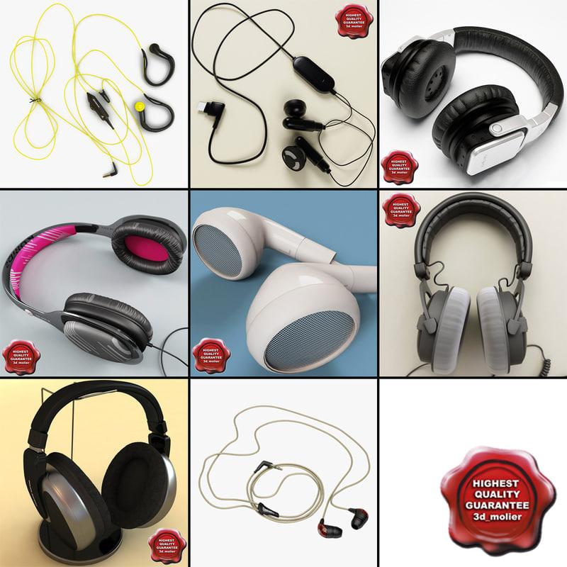 headphones v4 3d max