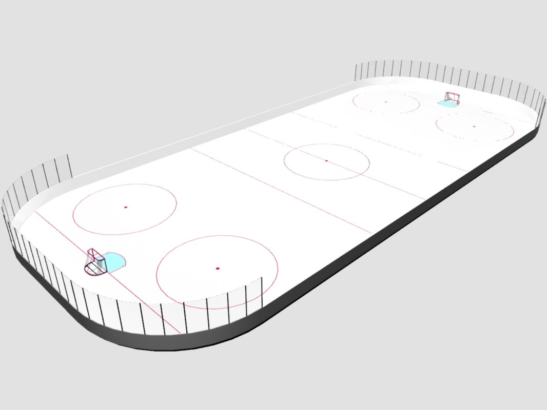 3ds max hockey rink