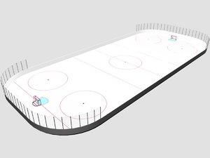 3ds max hockey rink