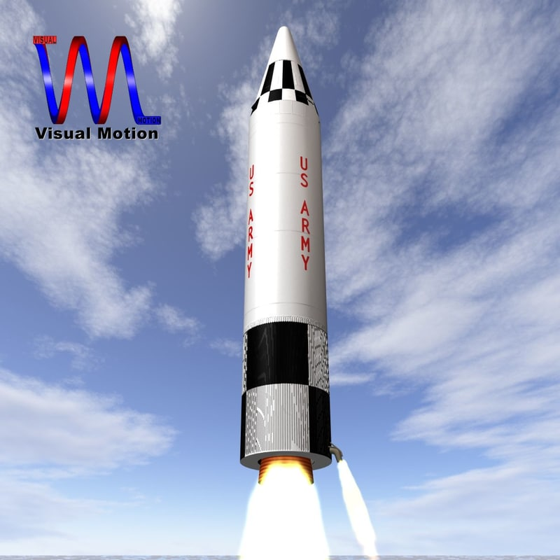 3dsmax army jupiter missile