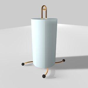 kitchen roll holder 3d c4d