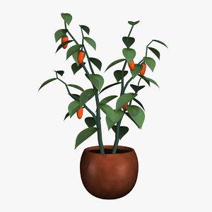 3ds max decorative pepper plant
