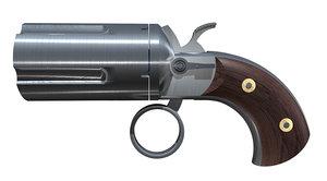 3d flare gun model