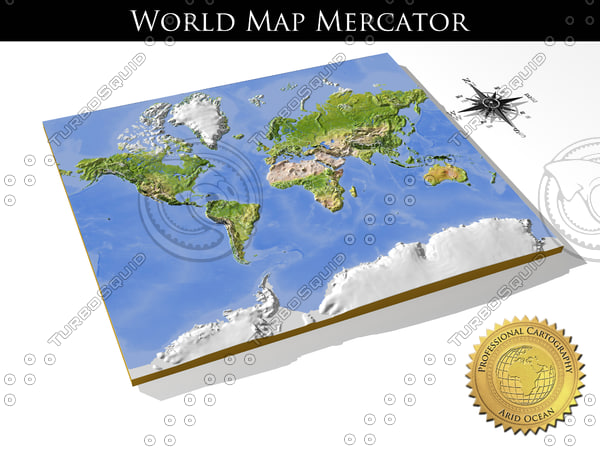 relief world mercator obj