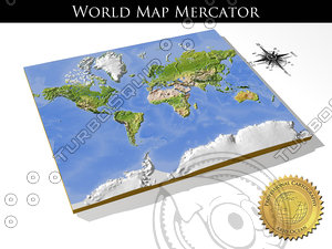 relief world mercator obj