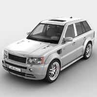 obj realistic range rover sport