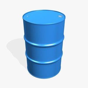 3d obj closed 55 gallon drum
