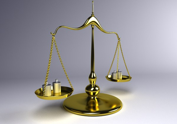 balance scale 3d obj