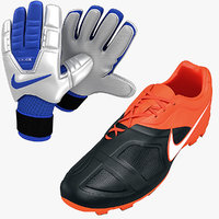 Soccer Shoes and Gloves Collection