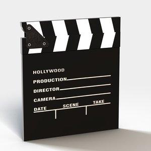 clapboard movie 3d c4d