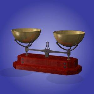 3d antique tobacco scale model