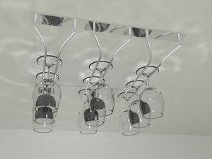 3d glass rack wine