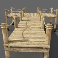 wooden pier wood 3d model