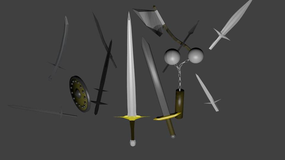 free weapons blender 2 3d model
