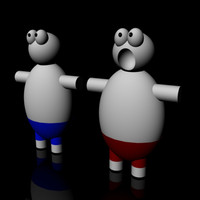 free obj model cartoon face