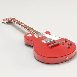 guitar les paul 3d model