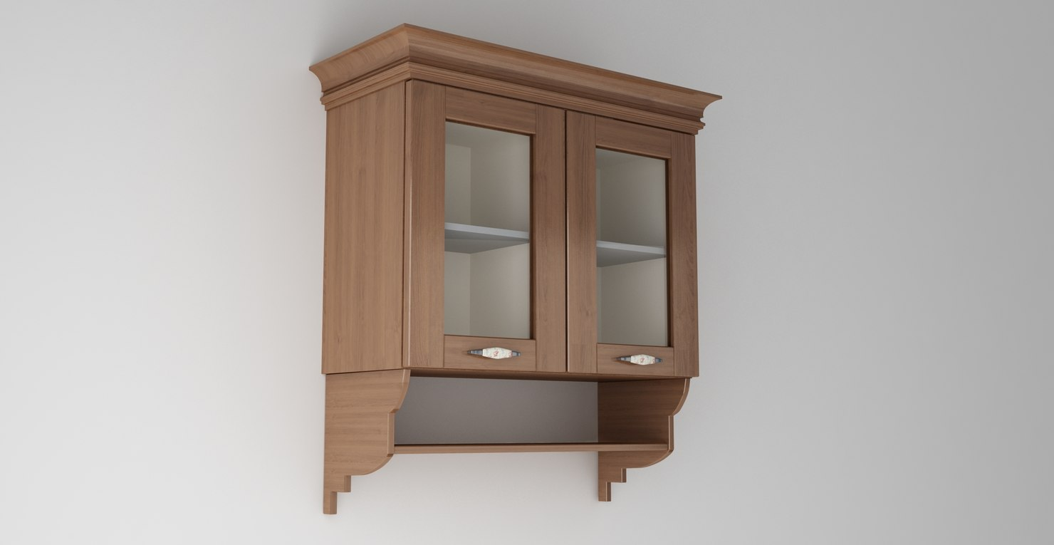 3ds max country kitchen cabinet
